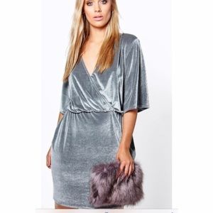 Boohoo top wrap dress